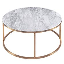 Elon KD Round Coffee Table Marble Top, White