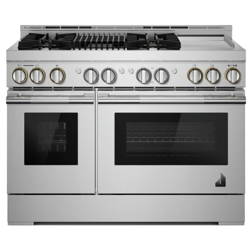 "48"" RISE™ Gas Professional-Style Range with Chrome-Infused Griddle and Infrared Grill"