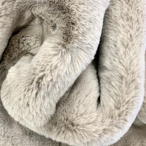 "Luxury Chinchilla Feel Faux Fur Blanket by Rug Factory Plus - Cal King/Eastern King - 104"" x 93"" / Mocha"