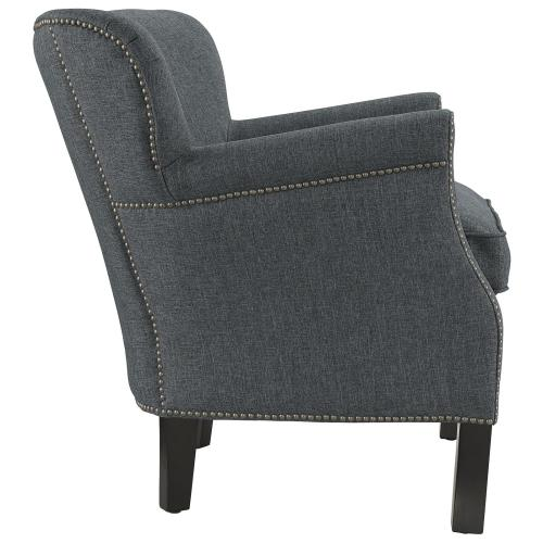 Key Upholstered Fabric Armchair in Gray