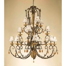 AF Lighting Sonoma Sixteen Light Chandelier, 5578-16H