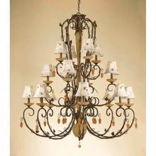 AF Lighting Sonoma Sixteen Light Chandelier, 5578-16H