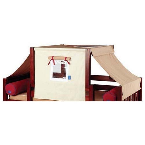 See Details - Top Tent Fabric (Twin) : Dark Khaki/Light Khaki/Red