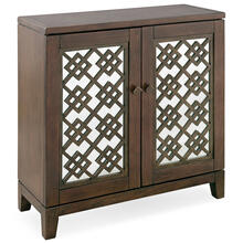 See Details - Mirrored Diamond Filigree Hallstand/Entryway Table with Adjustable Shelf #10083-WA