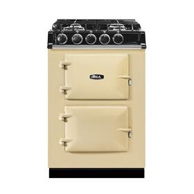 """AGA City 24"""" Electric/Natural Gas Cream with Stainless Steel trim"""