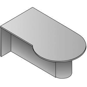 Kenwood Left P-top Desk, 72x42