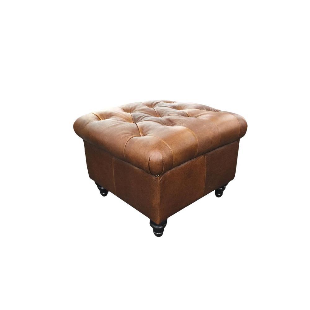 Sitara Ottoman W/Gemsbok Leather
