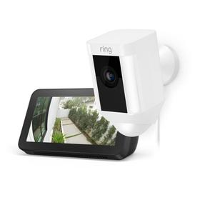 Spotlight Cam Wired with Echo Show 5 - White