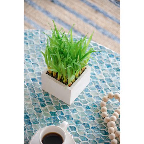 A & B Home - Faux-Grass Square Planter
