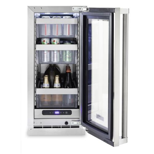 "15""W. Stainless Steel Interior Undercounter Refrigerator - VURE Viking Professional Product Line"