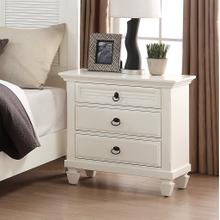 See Details - Regitina 016 White Bedroom Nightstand