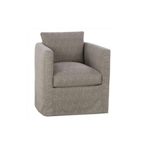 Rothko Slipcover Swivel Chair