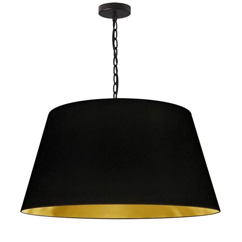 Product Image - 1lt Brynn Large Pendant, Blk/gld Shade, Black