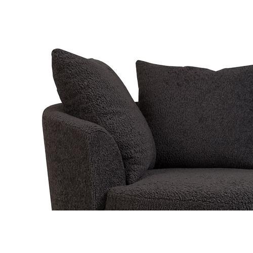Porter International Designs - Fuzzy Wuzzy Swivel Cuddler Chair, AC820