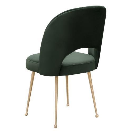 Tov Furniture - Swell Forest Green Velvet Chair