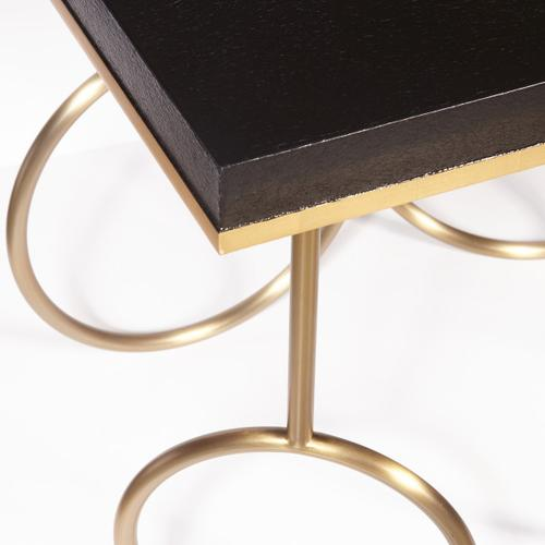 Gold Rings End Table