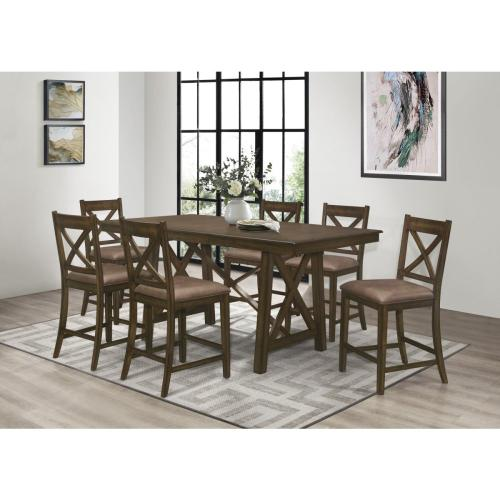HOMELEGANCE 1-5757-36 6-5757-24 Mindy Levittown Counter Height 7-Piece Dinette- Table And 6 Chairs