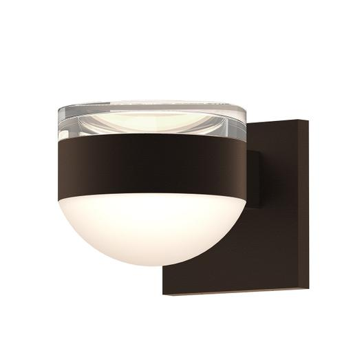 Sonneman - A Way of Light - REALS® Up/Down LED Sconce [Color/Finish=Textured Bronze, Lens Type=Clear Cylinder Lens and Dome Lens]