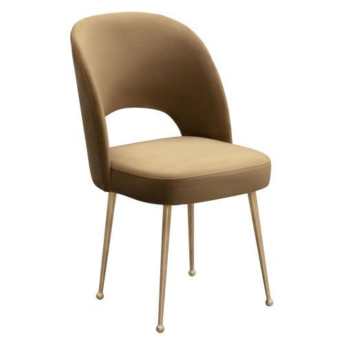 Swell Cognac Velvet Chair