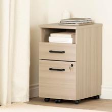 Zelia - 2-Drawer Mobile File Cabinet, Soft Elm