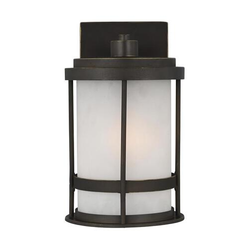 Wilburn Small One Light Outdoor Wall Lantern Antique Bronze