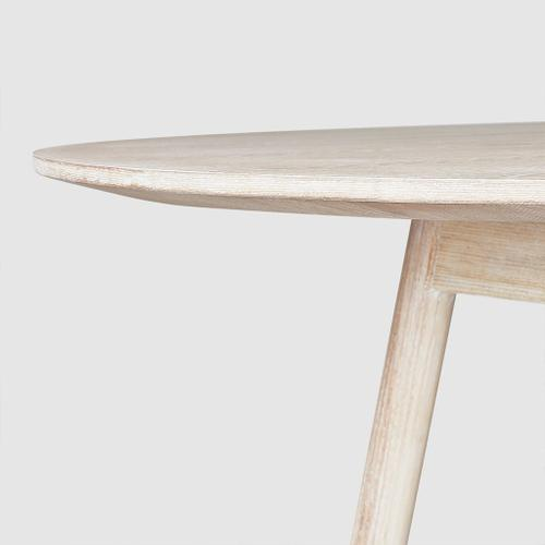 Bracket Dining Table - Round White Wash Ash
