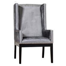 View Product - Tribeca Grey Velvet Chair