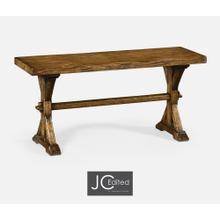 See Details - Narrow Country Walnut Topped Bench
