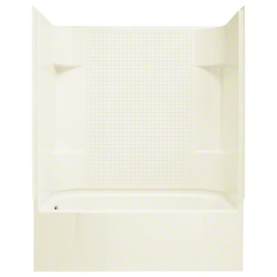 "Accord® Series 7114, 60"" x 30"" x 72"" Bath/Shower with Age in Place Backers - Left-hand - KOHLER Biscuit"
