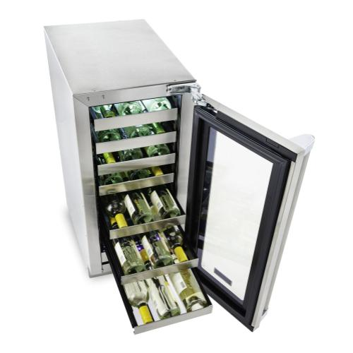 "15""W. Stainless Steel Interior Undercounter Wine Cellar ™ VUWC"