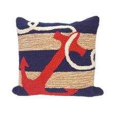 View Product - Liora Manne Frontporch Anchor Indoor/Outdoor Pillow Navy