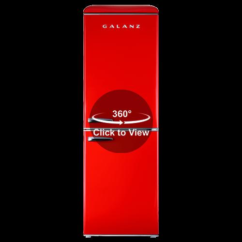 Galanz - Galanz 7.4 Cu Ft Retro Bottom Mount Refrigerator in Hot Rod Red