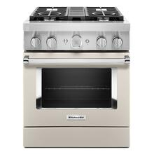 KitchenAid® 30'' Smart Commercial-Style Dual Fuel Range with 4 Burners - Matte Milkshake