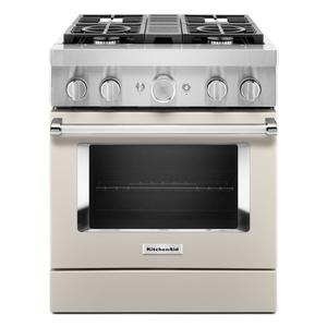 KitchenAidKitchenAid® 30'' Smart Commercial-Style Dual Fuel Range with 4 Burners - Milkshake