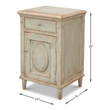 See Details - Ribbon One Door Commode, Sage