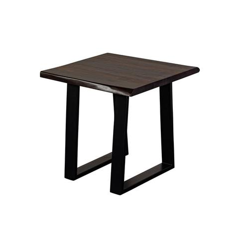 Manzanita Midnight Sheesham End Table with Different Bases, VCS-ET24M
