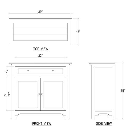 Aries Sideboard w/ 2 Doors
