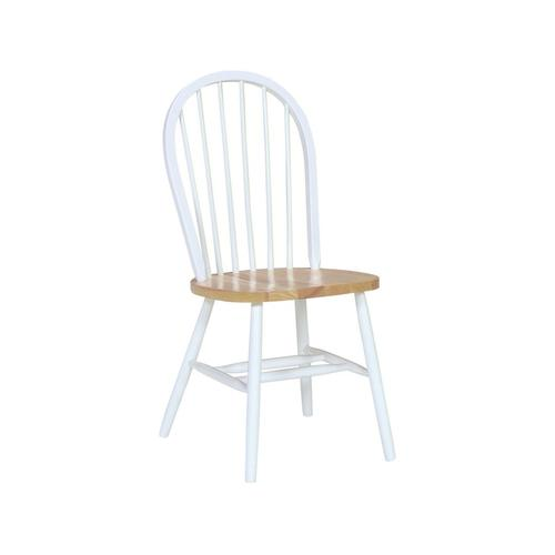 Windsor Chair in White & Natural