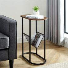 View Product - Margo Oblong Side Table - Dark Walnut