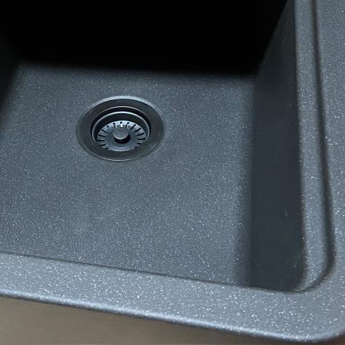 Nantucket Sinks - Matte Black Basket Strainer Kitchen Drain -For Granite Composite Sinks