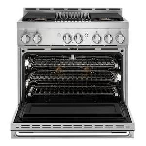 """JennAir - NOIR™ 36"""" Gas Professional-Style Range with Grill"""