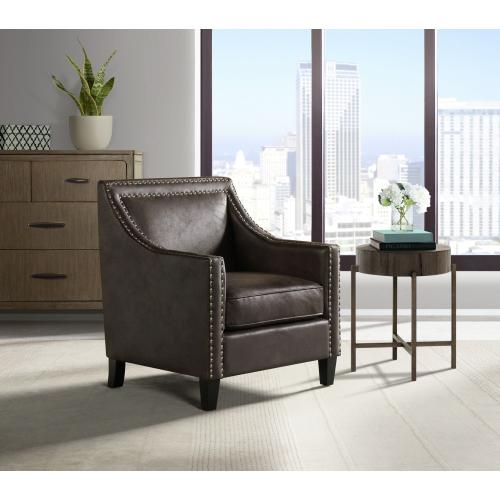 Product Image - Erica Chair with Chrome Nails In Sierra Espresso