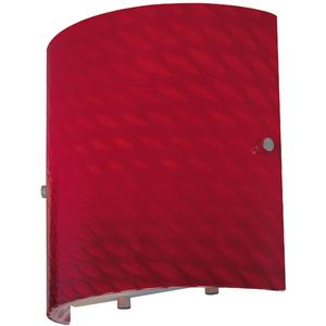 Wall Lamp, Red Glass Shade, E27 Type G 60w