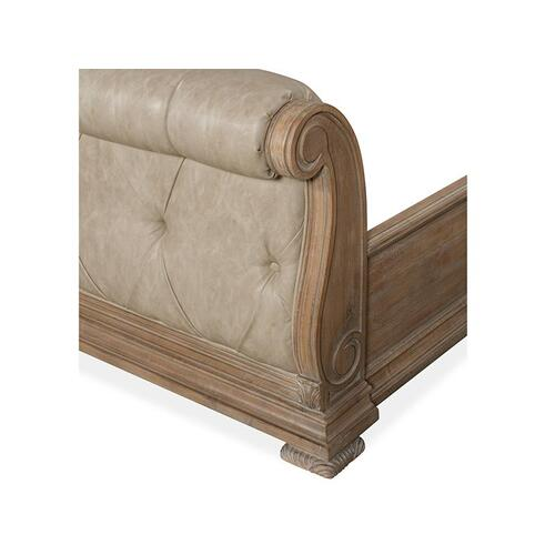 Complete King Sleigh Upholstered Bed