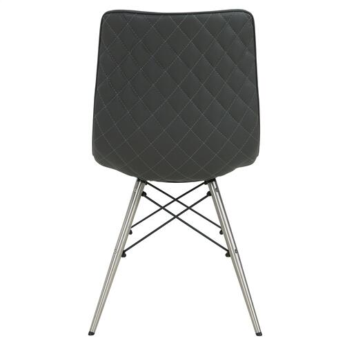 Blaine KD PU Chair Stainless Steel Legs, Stormy Gray