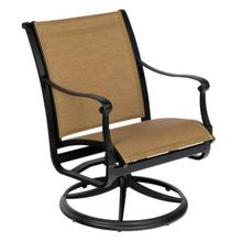 See Details - Wiltshire Sling Swivel Dining Armchair