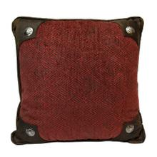 Wilderness Ridge Red Chenille Pillow W/ Conchos