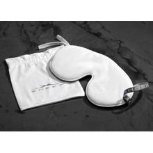 MIDNIGHT LABEL Cooling Sleep Mask + Travel Pouch - Porcelain