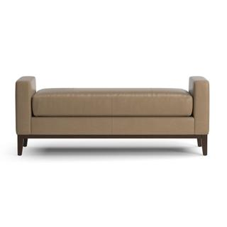 See Details - Balfour Leather Bench