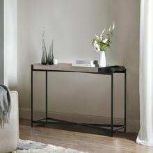 See Details - Dua Concrete and Black Metal Modern Console Table